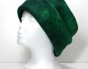 Green Variegated Polar Fleece Hat Winter Hat Womans Fleece Hats Ladies Fleece Hat Womens Fleece Hats Girls Fleece Hat