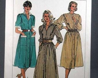 Simplicity 6940, Misses' Dress Pattern, Petite-able, Vintage Simplicity, Misses', Size 6 and 8, Uncut