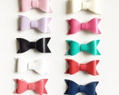 Faux leather bows clips or headbands
