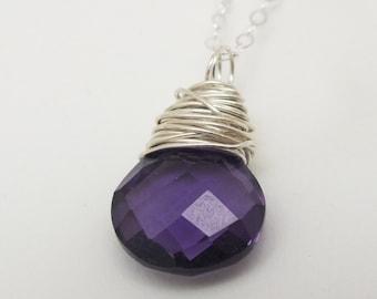 February Birthstone, February, Purple Amethyst, Amethyst Necklace, Amethyst Jewelry, Birthstone Necklace, February Gift Idea, Gifts Under 50