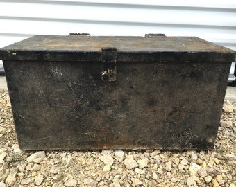 Old Iron Chest or Trunk