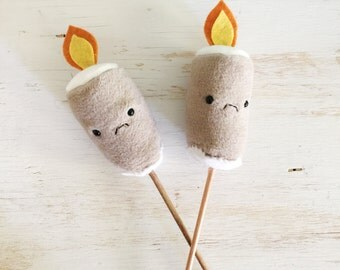Plush Toasted Marshmallows - Pretend Camping Soft Toy - Ready to Ship
