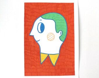 Original Illustration A4 - Boy Portrait