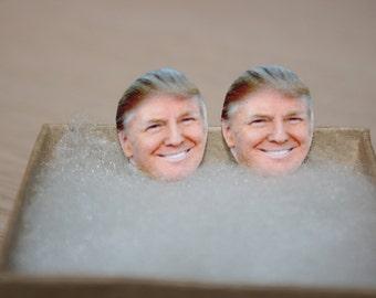 Donald Trump Stud Earrings, Political Jewelry, President, 2016 Election,Make America Great Again,Trump Train