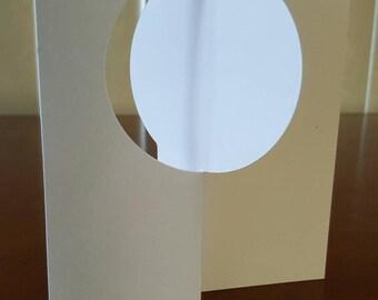 Stampin' Up thinlits circle flip card - Set of 10 die cut cards