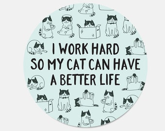 School Supplies Mouse Pad Funny Dorm Decor Mousepad Cat Mouse Pad Cat Lady Gift for Coworker Cute Office Supplies Funny New Job Gift