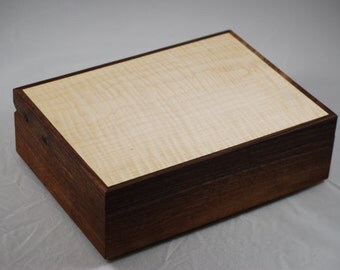Fantastically Figured Quilted Maple and Walnut  jewelry Box