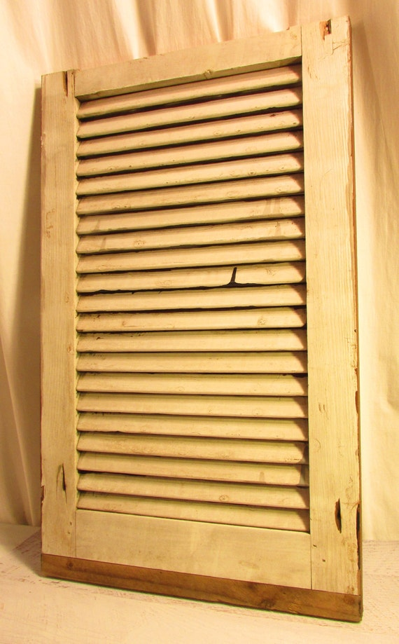 Old Window Shutter Painted Pine Wood Exterior House Shutter