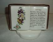 Vintage Lord's Prayer Vase.  Pencil/pen Holder.