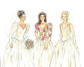 New Look Wedding Dress Pattern 6209 - Misses' Fitted Tops and Flared Skirt - Two-Piece Wedding Dress - Sz 8/10/12/14/16/18