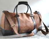 Leather Duffel Bag  //  Weekender Bag //  THE TRAVELER