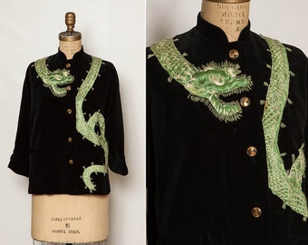 vintage 50s Chinese dragon jacket