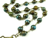 50% OFF - Fashion ID Lanyard - Long Strand of Blues and Golds