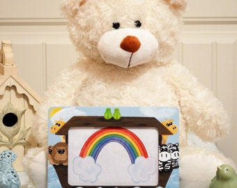 Noah's Ark Hand Painted Picture Frame