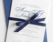 Two-ink letterpress wedding or baby shower invitation: MyBear / Superior quality cotton paper, nice to the touch, earth friendly, bears