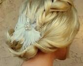 Wedding Hair Accessories,Wedding Head Piece,Feather Hair Clip,Bridal Comb,Bridal Hair Accessory,Wedding Hair Clip,Feather Hair Clip