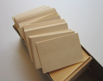 50 vintage blank mini flash cards - 2 x 3 inches