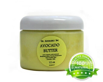 12 OZ Organic Pure Avocado Butter Great Moisturizer