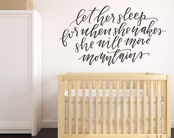 Vinyl Wall Sticker Decal Art - Let her sleep ...