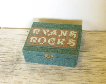 "Embroidered ""Ryan's Rocks"" Cigar Keepsake Box"