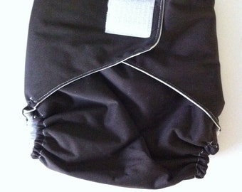 Ready to Ship - Diaper Cover - Velcro - Brown