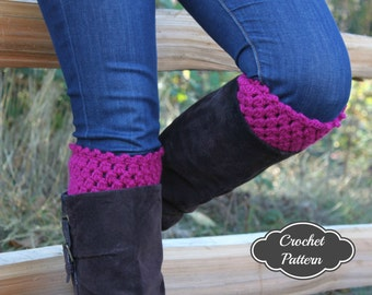 CROCHET PATTERN - Bot Cuffs Crochet Pattern, Boot Topper Pattern, Crochet Boot Cuffs, Boot Accessories