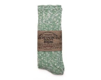 Quality Mending Co. Rag Socks - Green
