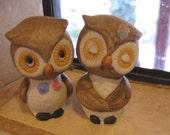 Owl Salt And Pepper Shaker Set, Porcelain, Vintage
