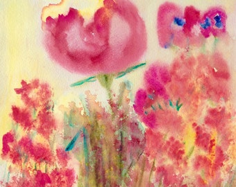 Red Poppies Abstract Art Print