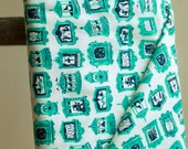 Cotton and Steel Penny Arcade Aqua By the 1/2 Yard