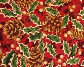 Red Holly Leaves from the Thimbleberries Christmas Street Collection