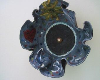 Repurposed Vinyl Record Decorative Bowl