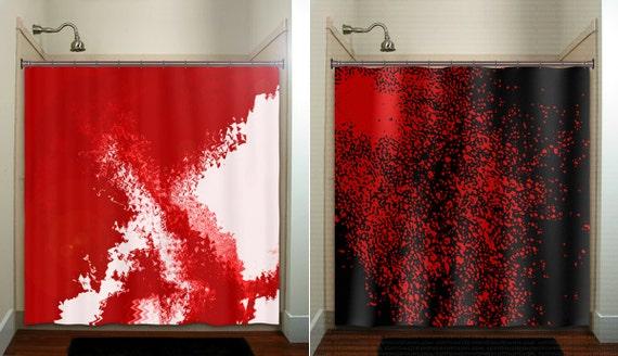 Blood Splatter Red Shower Curtain Bathroom Decor By TablishedWorks