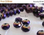 20% OFF ON SALE 20 pcs Chinese Crystal Purple Ab Faceted Rondelle 6mm Beads
