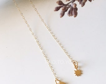 Aphrodite I - 24kt Gold Plated Sterling Silver on 14kt Gold Filled Lariat Choker Necklace- Insurance included in ALL domestic shipping!