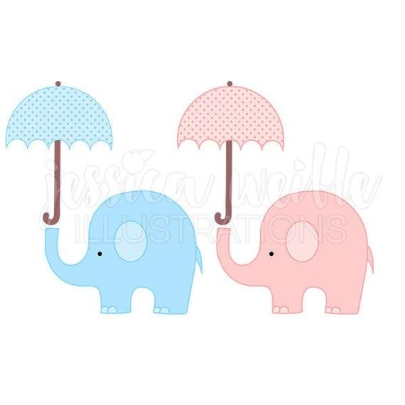 with umbrella cute digital clipart elephant clip art baby shower