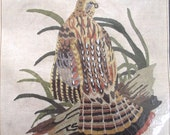 Grouse Crewel Embroidery Kit, Vintage Unused DIY Project to Make Picture or Pillow