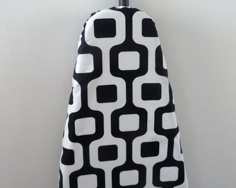 Ironing Board Cover - black and white retro pattern