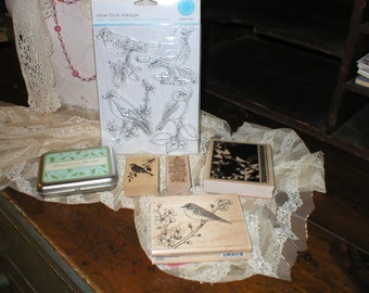 FOR THE BIRDS Lot of Fabulous Rubber Stamps inc MarthaStewart, Hampton, Stampabilities, Inkadinkadoo all new unused
