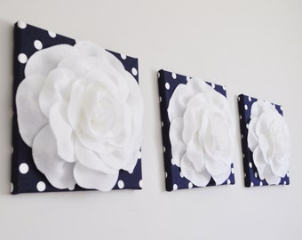 Forever Rose Navy, Rose Flower Kitchen Art, Kitchen Tile, Kitchen Wall Decor, Nursery Wall Decor, Bedroom Wall Decor, Navy White Wedding