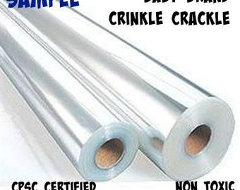 """Ready To Ship- 10""""x33"""" Sample Size Crinkle Paper Strip- CPSC Hard to find- Crinkle Material, crinkle supplies, great for making baby toys"""