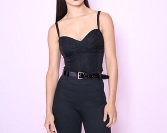 Bonita Black Lace Bustier Top