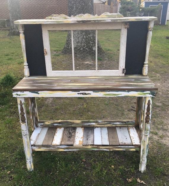shabby chic potting bench custom order