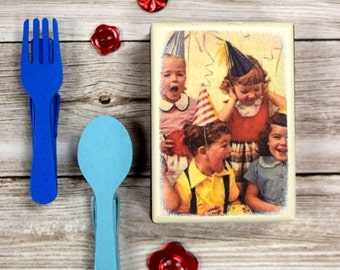 Piece Of Cake Wood Box, Gift Box, nostalgic birthday, Party Favor, Party Favors, Kids Party, Birthday Parties, Gift boxes, Handmade