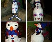 "Handmade wacky tacky snowman ""ugly Christmas"" hat"
