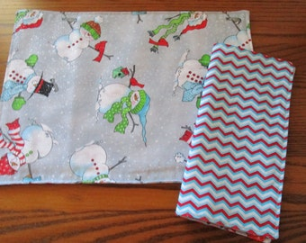 Child Size Placemats and Napkins, Snowmen