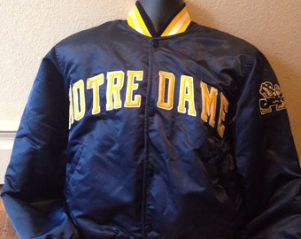 Vintage 1980s 1990s Notre Dame fighting Irish Starter jacket coat adult size medium