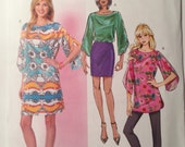 Butterick B 5815 8-10-12-14-16 sewing top tunic dress pattern