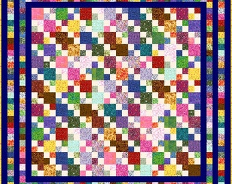 "HIGELTY PIGELTY - 77""x 77"" or 69""x 69"" or 61""x 61"" - Quilt-Addicts Precut Quilt Kit or Finished Quilt Double size"