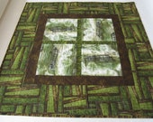 CUSTOM ORDER - Quilted Table Topper with Farm Equipment